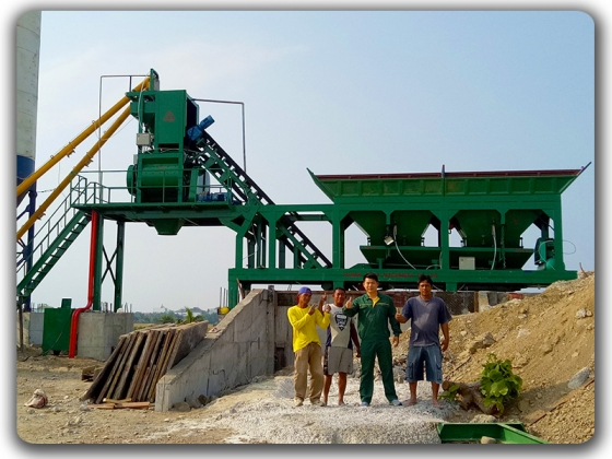 35m3 / h mobile batching plant